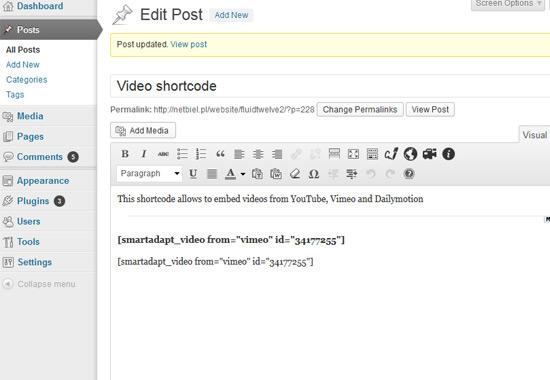 video-shortcode