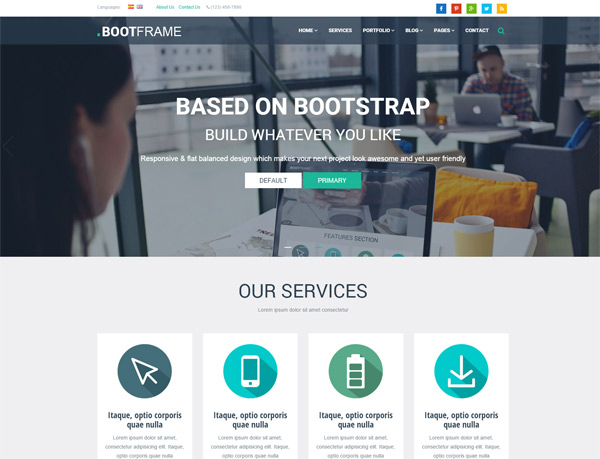BootFrame – Business Responsive Theme