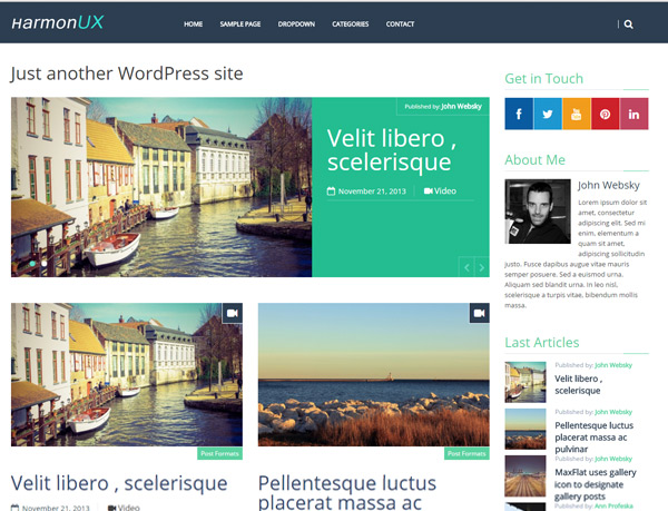 HarmonUX –  UX-focused Blog & Magazine Theme